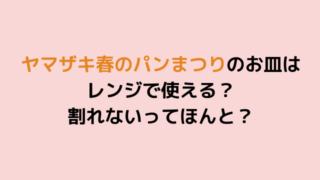 ヤマザキ春のパンまつりのお皿はレンジで使える? 割れないってほんと?