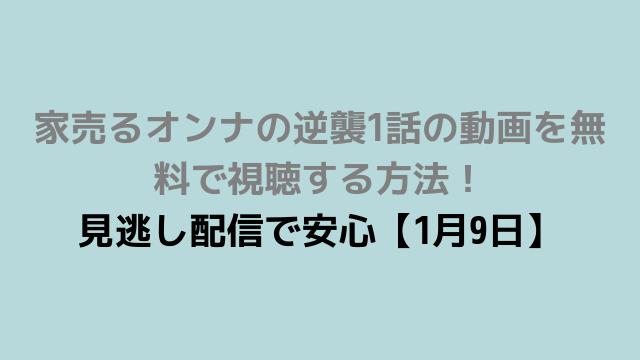 家売るオンナの逆襲1話の動画を無料で視聴する方法! 見逃し配信で安心【1月9日】-min