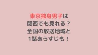 東京独身男子は 関西でも見れる? 全国の放送地域と 1話あらすじも!
