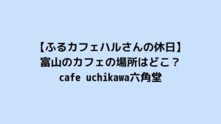 【ふるカフェハルさんの休日】富山のカフェの場所はどこ?cafe uchikawa六角堂